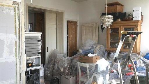 Zo zag Janneke's huis eruit tijdens de verbouwing